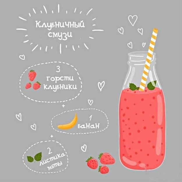 Рецепты отличных летних смузи! вкусно и просто 🍍