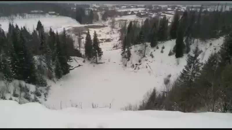 Зимняя тарзанка
