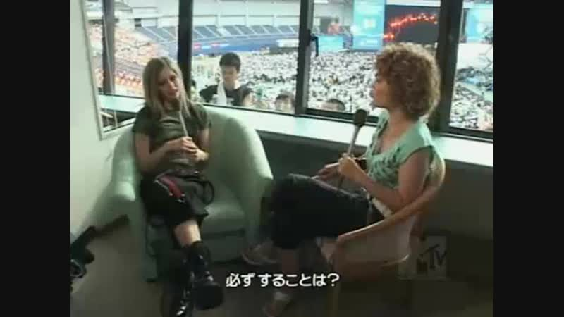 Avril lavigne interview at summer sonic japan 2004