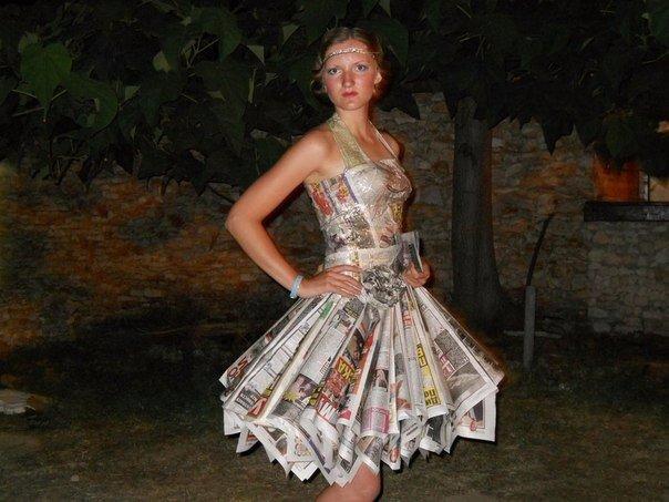 Платье из трубочек своими руками