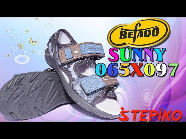 Детские текстильные босоножки Befado SUNNY 065X097. Видео обзор от WWW.STEPIKO.COM