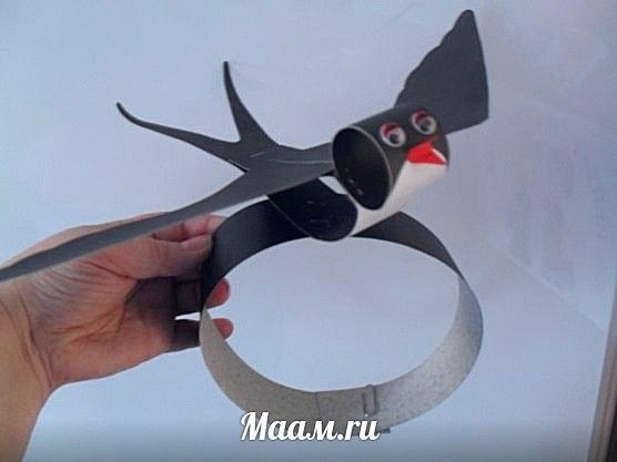 Как сделать маску ласточки своими руками 43