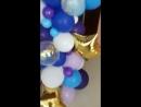 разнокалиберная гирлянда из шаров