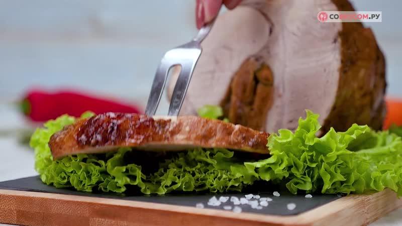 Как приготовить свиной окорок с инжиром