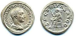 Древнеримские женщины-богини, монеты, Секуритас