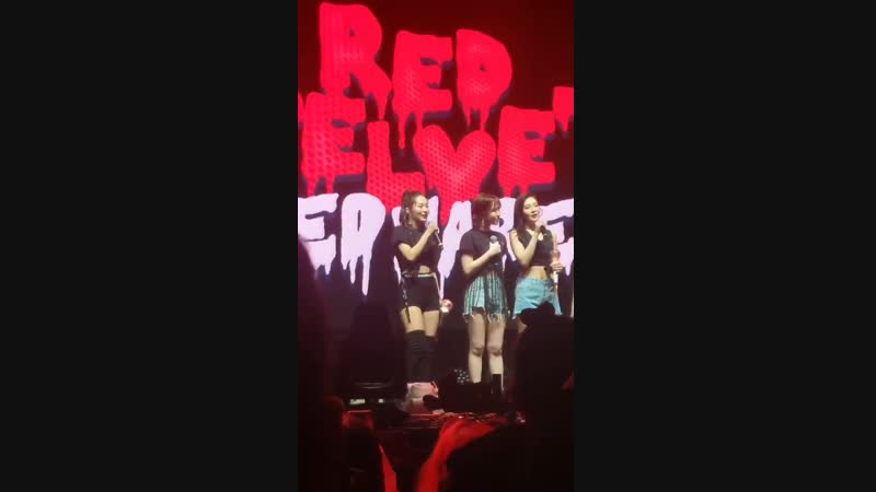 Red velvet deciding who would do the first ment @RVsmtown RedMareinToronto