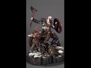 Kratos _& atreus ivaldi's dealy mist armor set (god of war) 360°view prime1studio