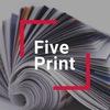 Типография FivePrint визитки и листовки в Москве