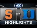 Syracuse vs Duke | 2014 ACC Basketball Highlights