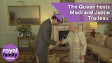 The Queen hosts Narendra Modi and Justin Trudeau at Buckingham Palace