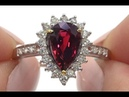 Double GIA Certified Red Ruby Diamond Engagement Ring 14k Gold 2.43 TCW - C588