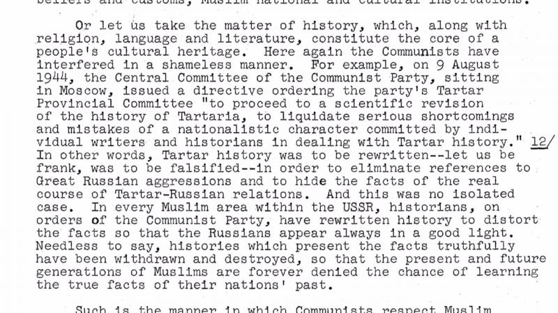 ЦРУ о фальсификации истории Тартарии в СССР