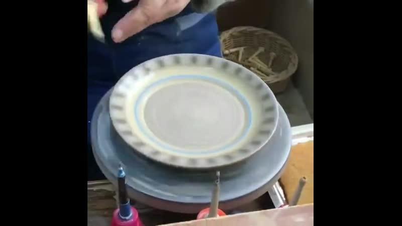 Раскрашивание посуды вручную