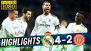 Real Madrid vs Girona 4-2 - Highlights & All Goals | 24/01/2019