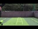 Football Training Warm Up Drills using Speed Agility Hurdles