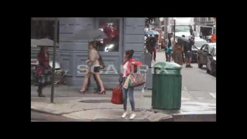 На съемочной площадке нового фильма Вуди Аллена в Нью-Йорке ( 19 сентября 2017)