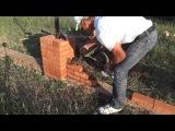 Кладка забора из красного керамического кирпича.Урок №17.1 Забор.Простенки.