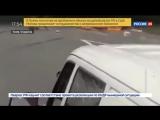 В Киеве мужчина чудом выбрался из горящей машины
