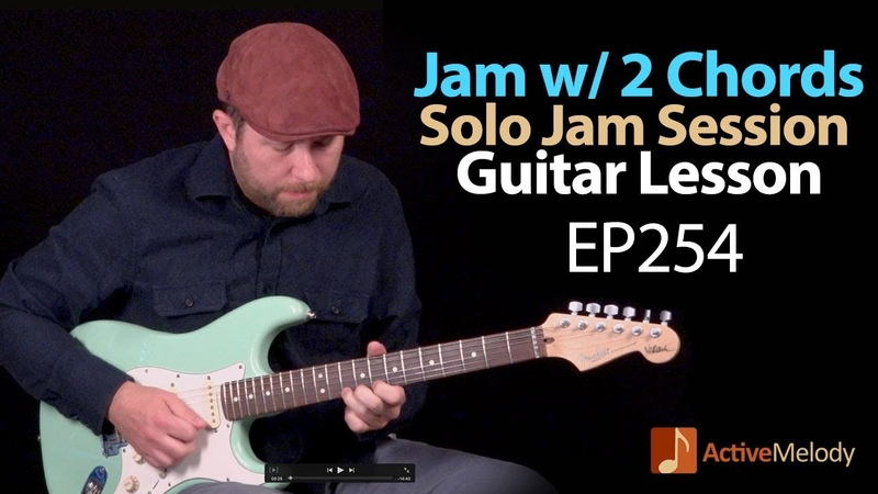 How to jam with just 2 chords - Playing both rhythm and Lead - Blues Guitar Lesson - EP254