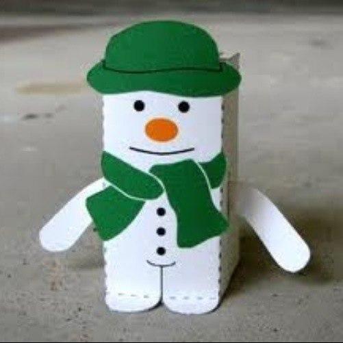 Снеговик бумаги своими руками - Luboil.ru