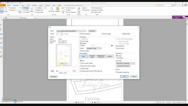 параметры печати foxit reader
