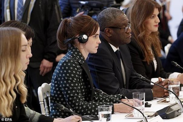 Эмма Уотсон и Эммануэль Макрон обсудили в Париже вопрос гендерного равенства в мире Гермиона Грейнджер из Гарри Поттера приехала на встречу Консультативного совета по вопросам гендерного