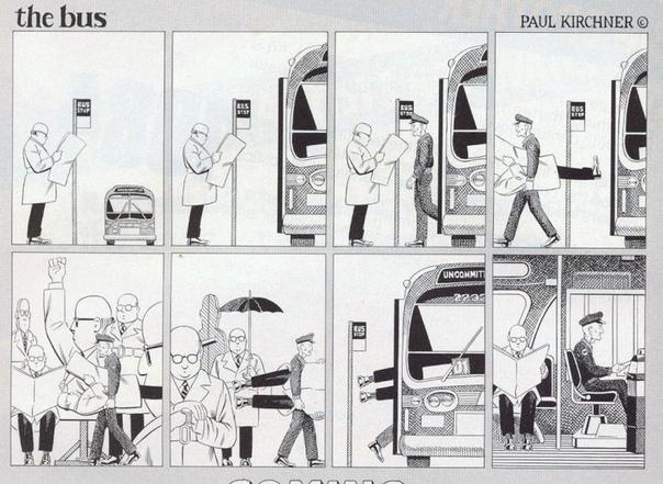 Серия абсурдистских автобусных комиксов для журнала Heavy Metal с 1976 по 1985 гг. Художник Пол Кирхер