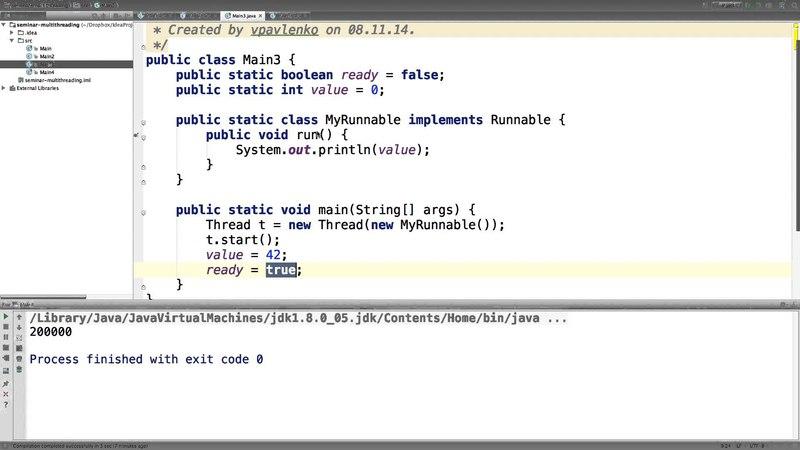 Семинары по Java на Физтехе. 08.11.2014. Многопоточность
