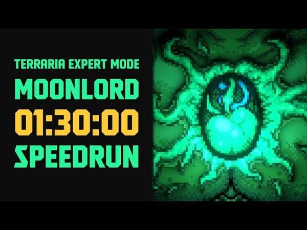 Terraria Expert Mode Speedrun Moonlord in 90 minutes no major glitches