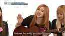 Lyrics Rose Not for long on Weekly idol Full ver BLACKPINK