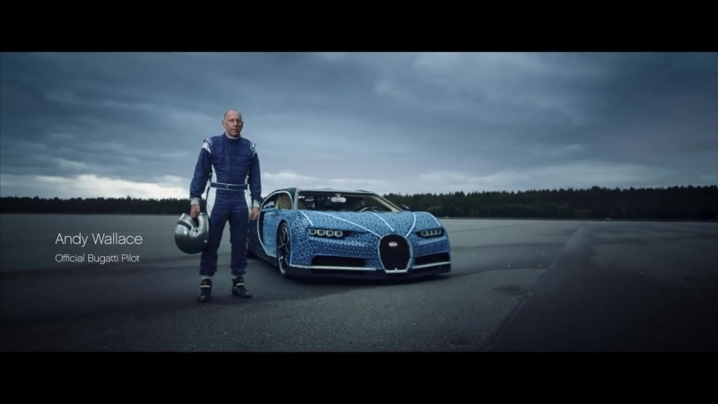 Working LIFE-SIZE Bugatti Chiron made from LEGO Technic