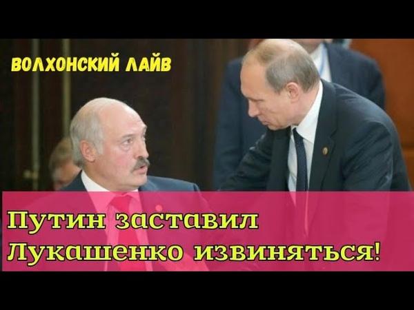 Путин заставил Лукашенко извиняться.