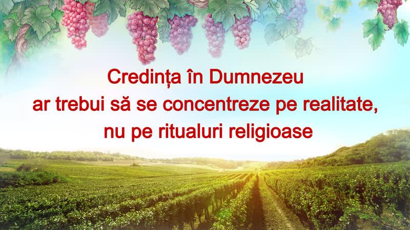 Credința în Dumnezeu ar trebui să se concentreze pe realitate nu pe ritualuri religioase