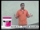 Нанесение мозаичной штукатурки Ceresit CT 77