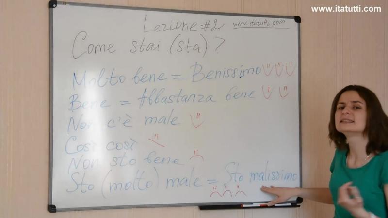 """""""Как дела?"""" по-итальянски. Итальянский язык Урок 2"""