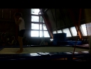 Маша Молчанова прыгает фляк на батуте 22.08.2018