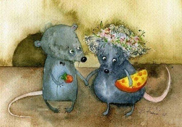 наивная осенняя сказка с рецептом от холодов сегодня одинокий мышь не выдержал. осмелился и преодолел коридор, соединяющий кухню с комнатой. мышка, его тайная возлюбленная, сидела за шкафом и