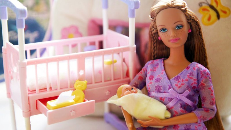 Куклы пупсики Играем в дочки матери купаем пупсиков Барби Пупсик Пупс Baby Doll toys MrGeor