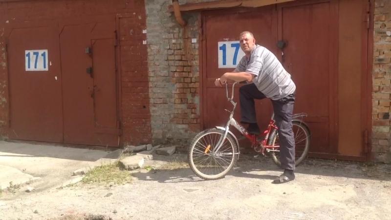 мерзкий сраный жЫрный велосипидор на Лёшином объекте