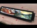 Ultra wide smart bar type lcd display solution high brightness advertising display