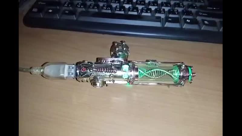 Steampunk flash drive . Motorized Molecule DNA 32_64_128gb USB 3.0 , steampunk s