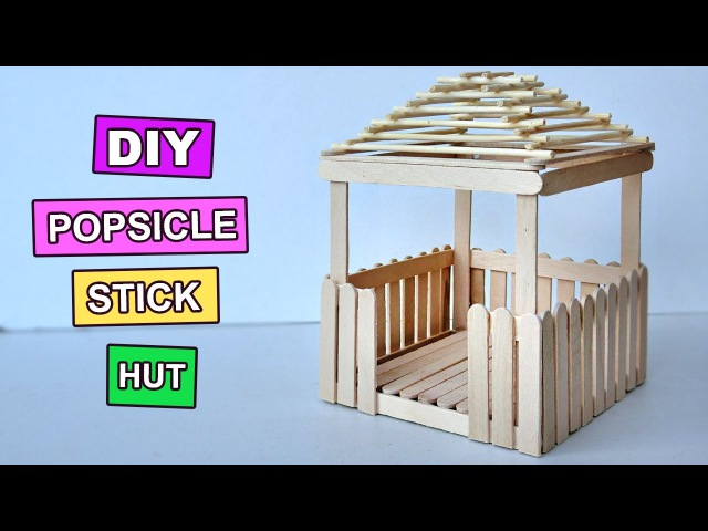 Popsicle Stick Crafts - Miniature Relaxing Hut 3