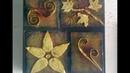 Cuadro decorativo hecho de cartón y periódico. Decorative picture made of cardboard