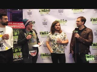 Bastille Interview Backstage at the Radio 104.5 Miller Lite Mystery Show at Xfin