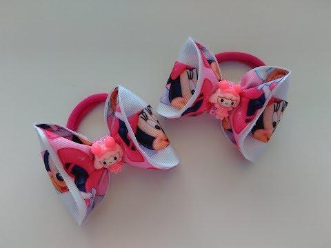Бантики Малышки из репсовых лент МК Канзаши Bows Baby girl from REP ribbons Kanzashi MK
