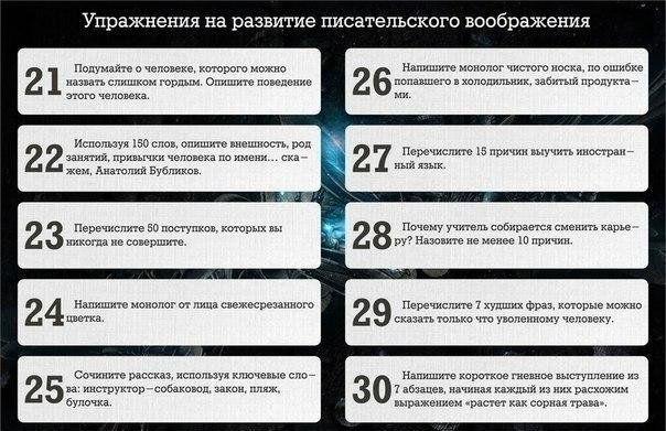43 упражнения для развития писательского мастерства!