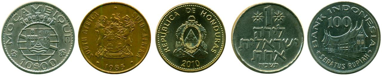 экзотические монеты мира