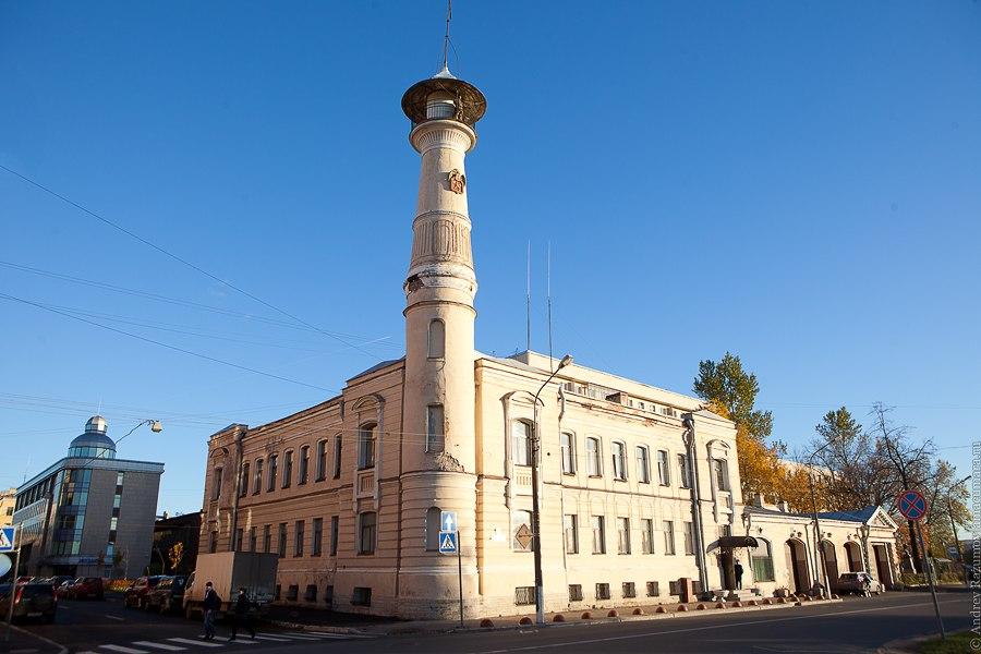 Санкт-Петербург Охта Большеохтинский проспект пожарная каланча
