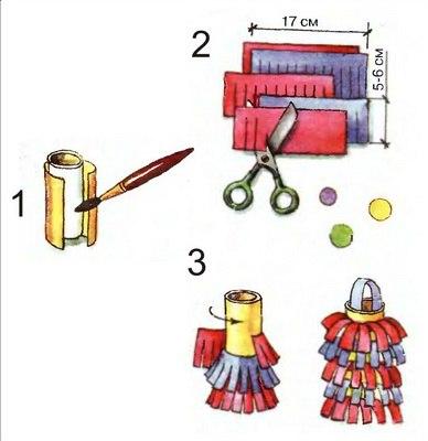 Как сделать фонарь из цветной бумаги новогодний
