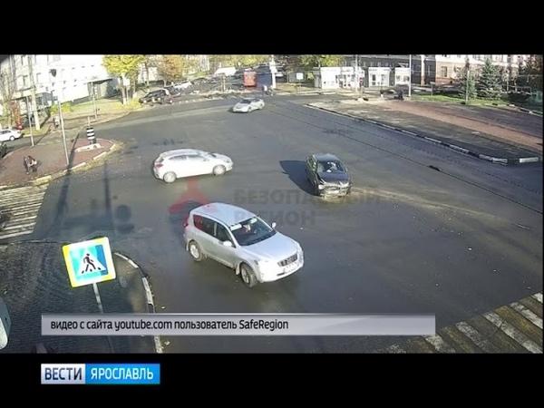 В центре Ярославля столкнулись два автомобиля